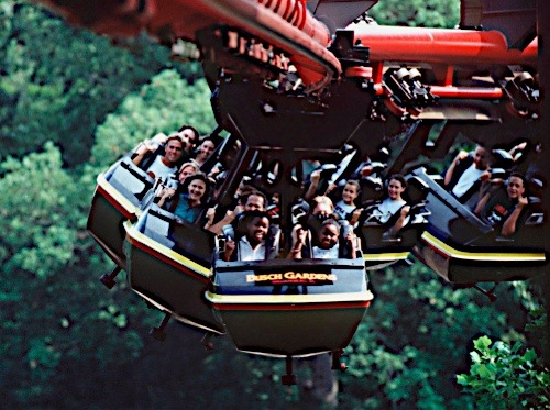 Travels and visits big bad wolf roller coaster - Busch gardens williamsburg rides ...