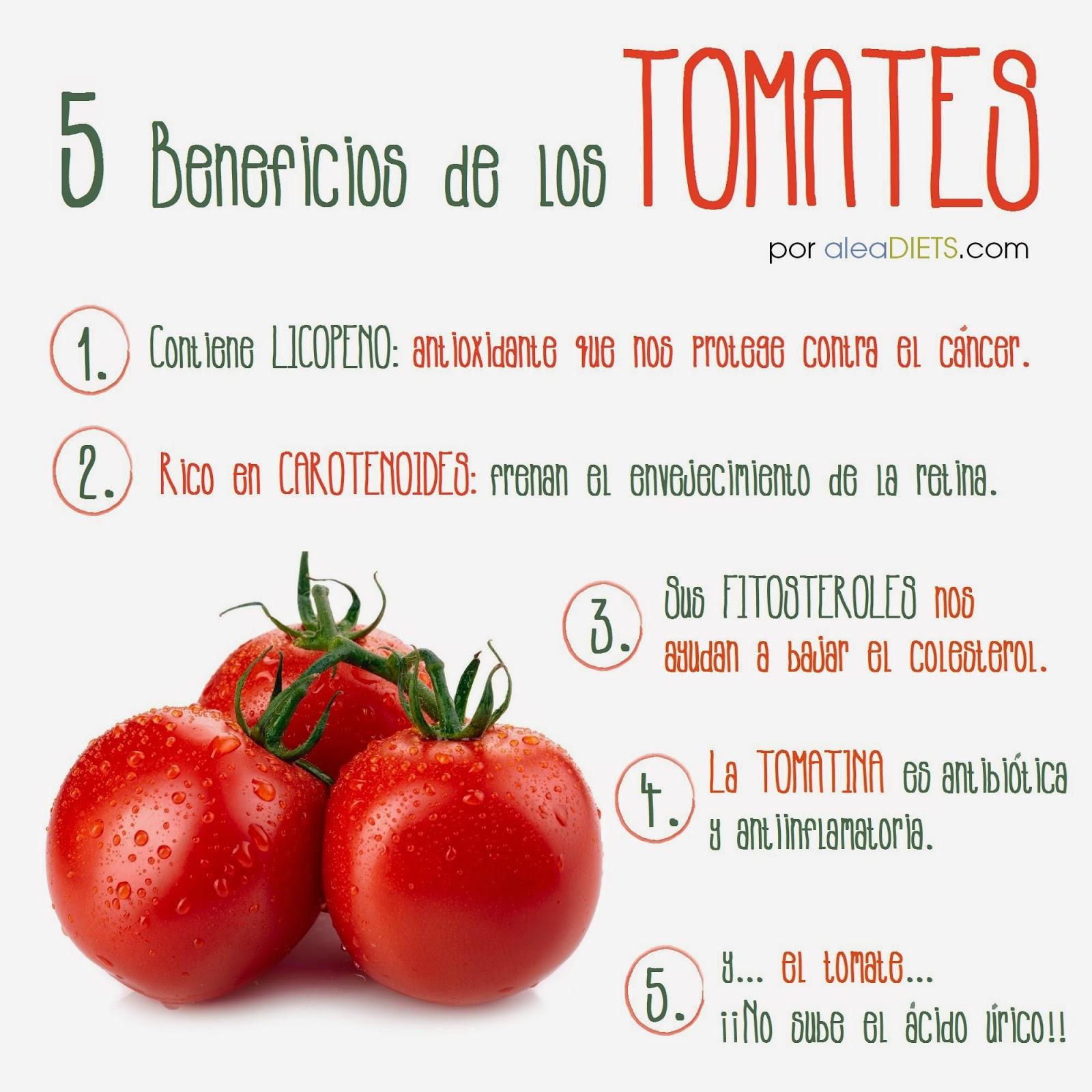 Beneficios del tomate, por aleaDIETS