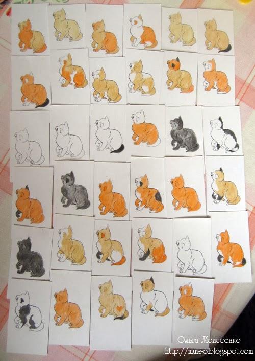 карточная игра с котятами, игра на внимание и скорость реакции, тренируем скорость реакции в игре