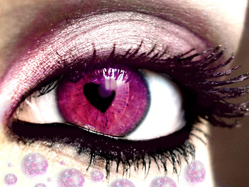 Как сделать вспышка в глаза