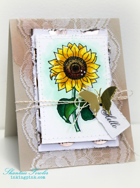 SRM Blog - Lace Layered Card by Shantaie - #ard #stickers #fancystickers #twine #janesdoodles #autumnblessings #lace #chalkmarkers #twine