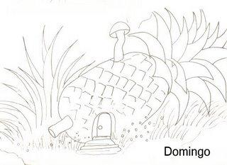 casinha no abacaxi