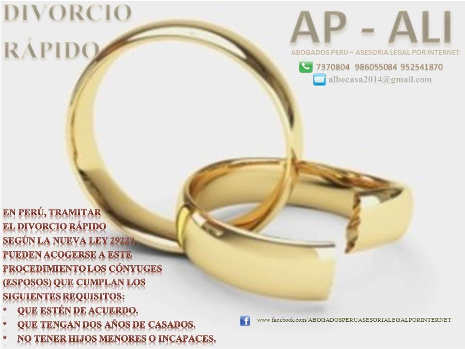 DIVORCIOS EN PERU