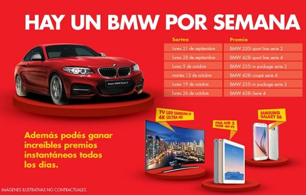 Shell Argentina sortea 3 BMW Serie 2 y 3 BMW Serie 4