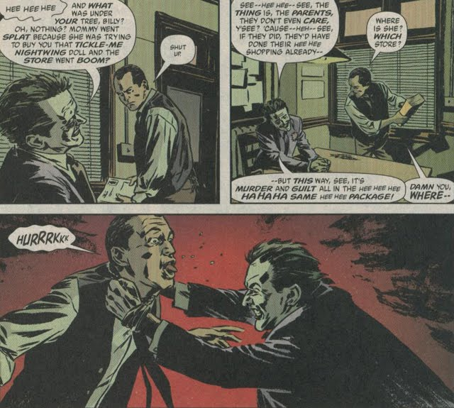 The Dark Knight's Joker interrogation scenes must have been influenced by this sequence from Gotham Central issue 15.