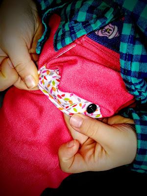 Pantalon fille Lolie Hop Ottobre avec poche doublée