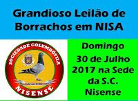 NISA: LEILÃO DE BORRACHOS NA SOCIEDADE COLUMBÓFILA