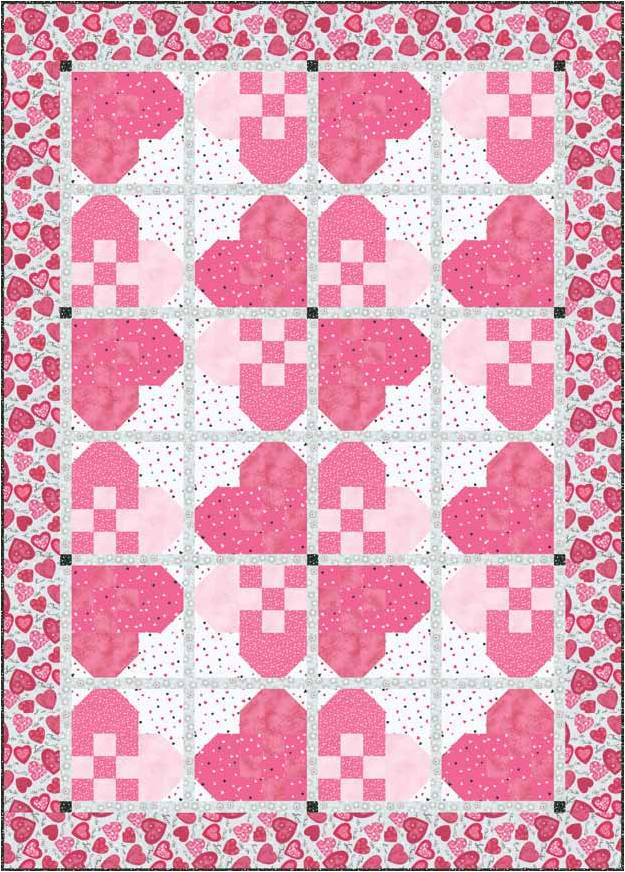 Free pattern day: Hearts and Valentines part 3 | Quilt Inspiration ...