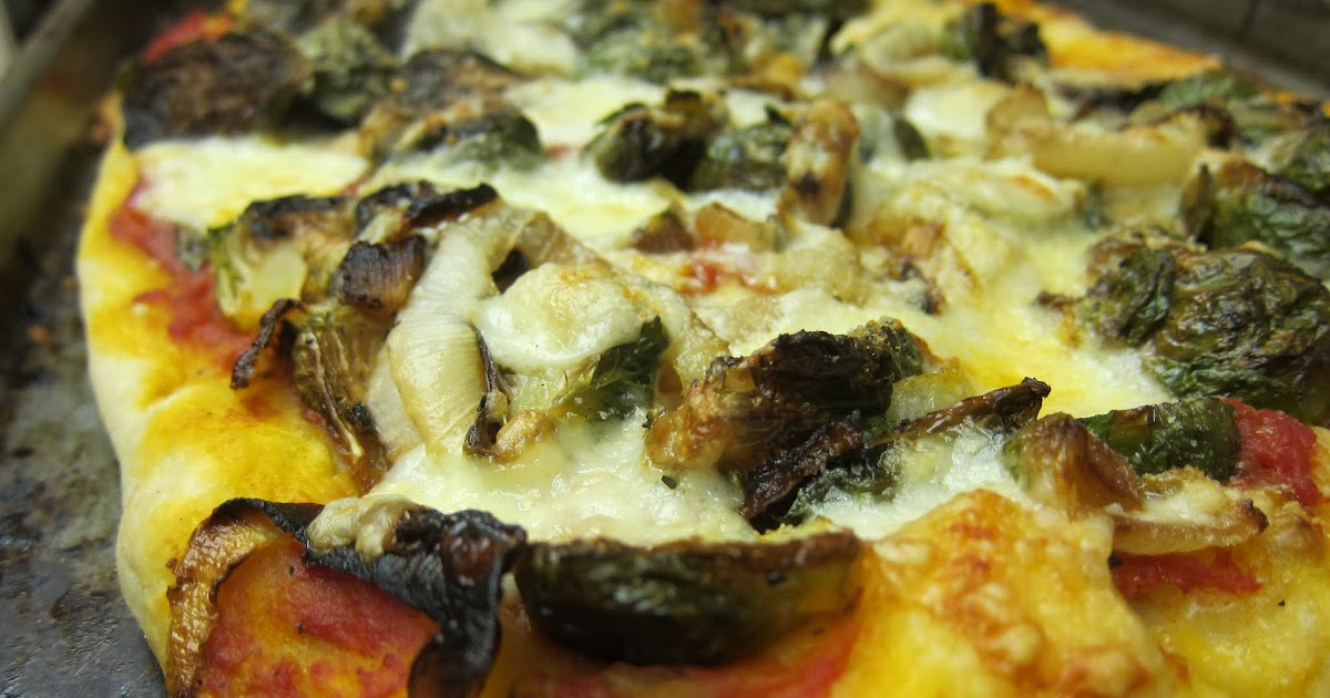 Banana Wonder: Roasted Brussels Sprouts and Asiago Pizza
