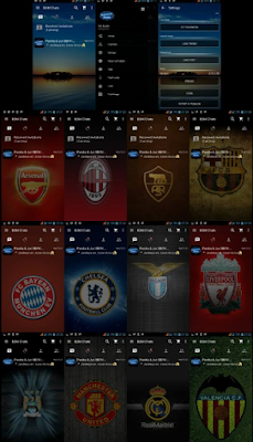 BBM Mod Custom Theme New v2.11.0.18 Background Package Tema Sepak Bola