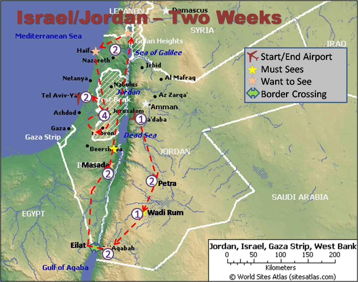 Jordan Israel Map - Map of egypt israel jordan