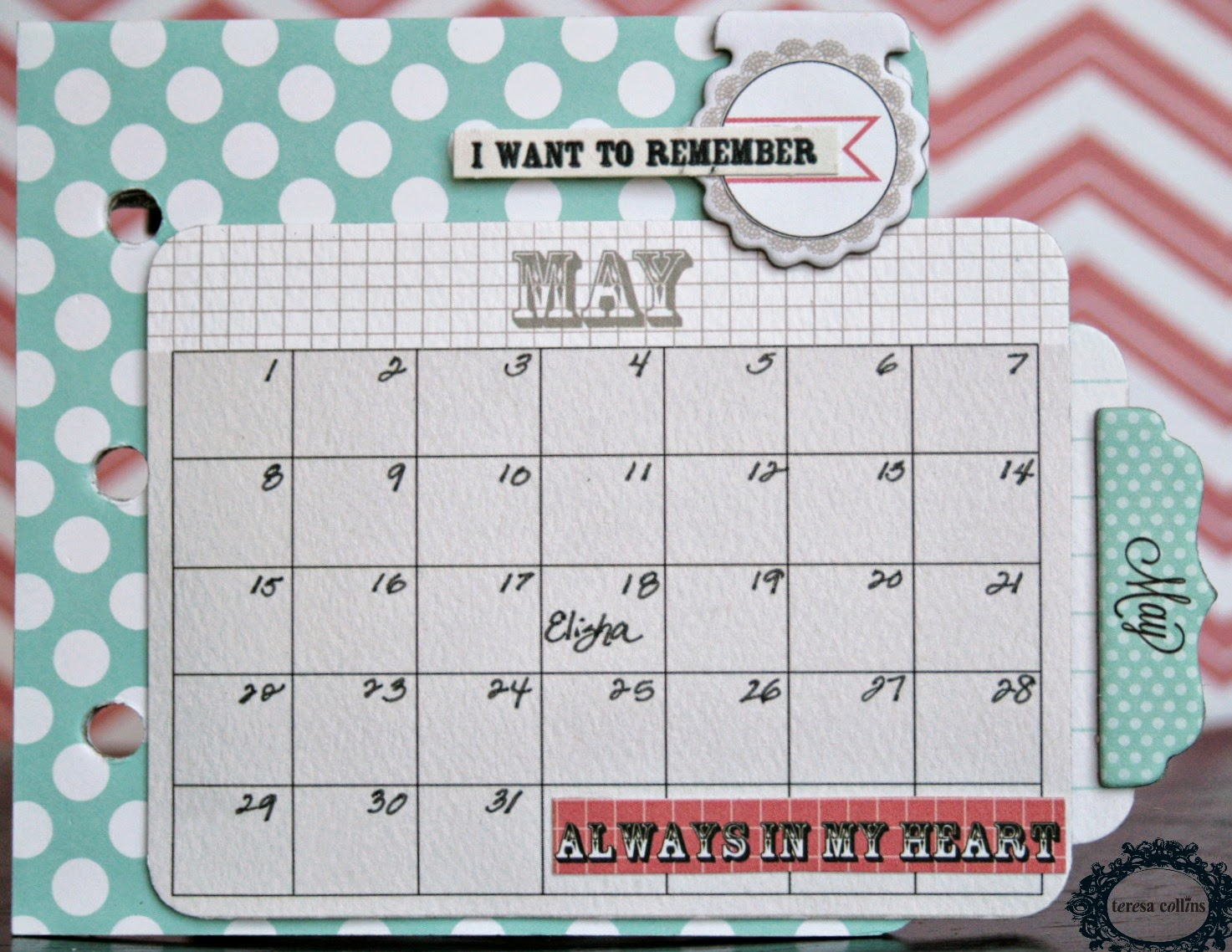 May Calendar Book : Cherinspirations calendar mini album tutorial using