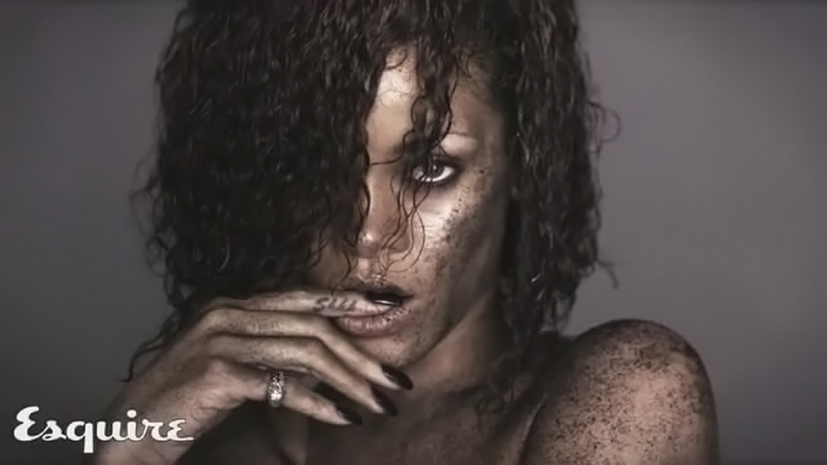 Esquire Magazine Rihanna Topless
