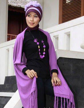 Zenitha Koleksi Cardigan Rajut ungu muda