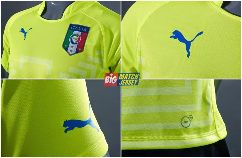 Detail Jersey GK Italy Away Official Piala Dunia Grade Ori 2014