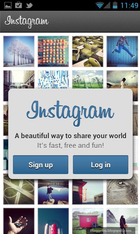 Cara Menggunakan instagram Buat Android