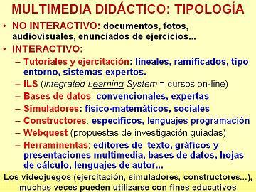 multimedia y sus tipos: