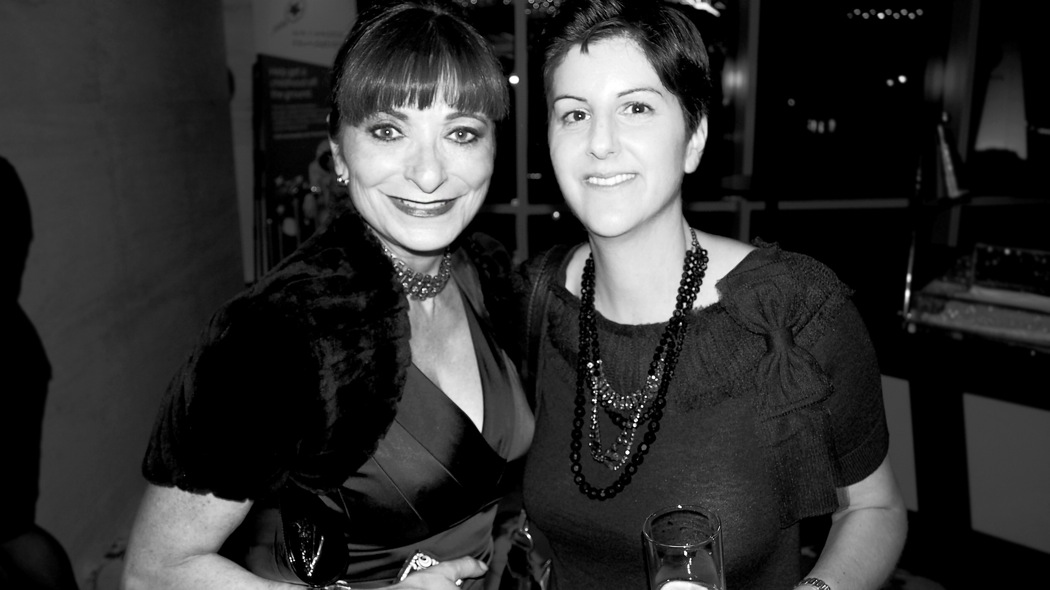 Jeanne Beker, host of Fashion Television Channel with Ilana Weitzman, Editor-in-Chief of enRoute magazine