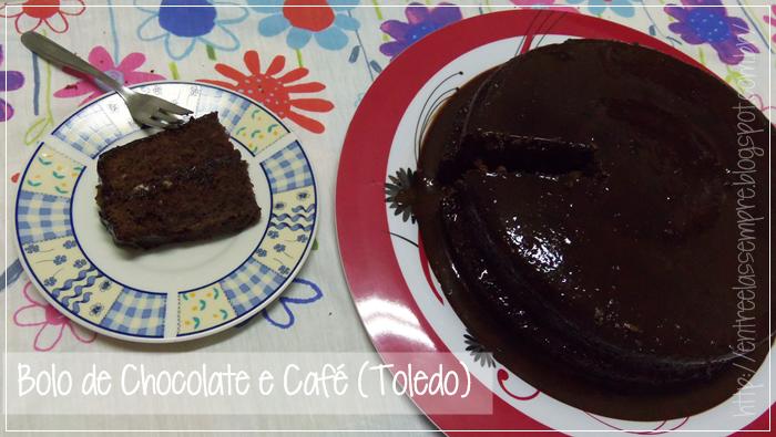 Bolo de Chocolate e Café