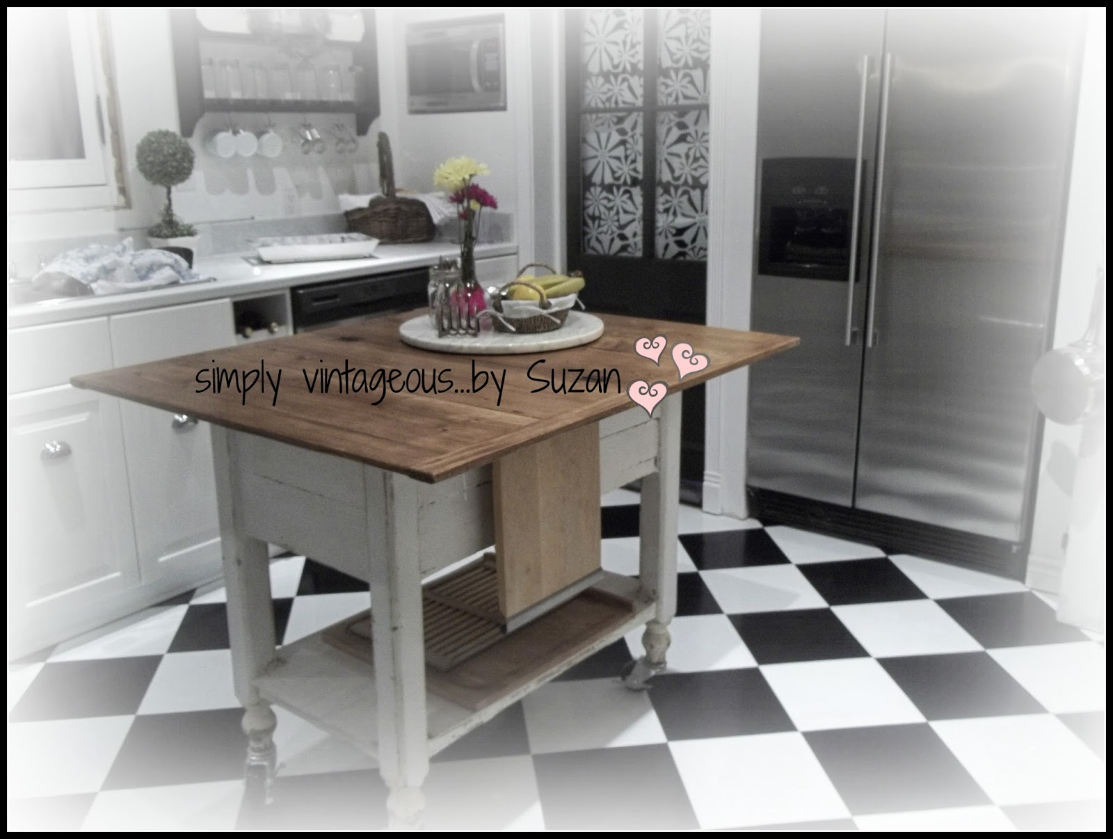 Checkerboard Flooring Kitchen Simply Vintageousby Suzan Wanna Play Checkers On My
