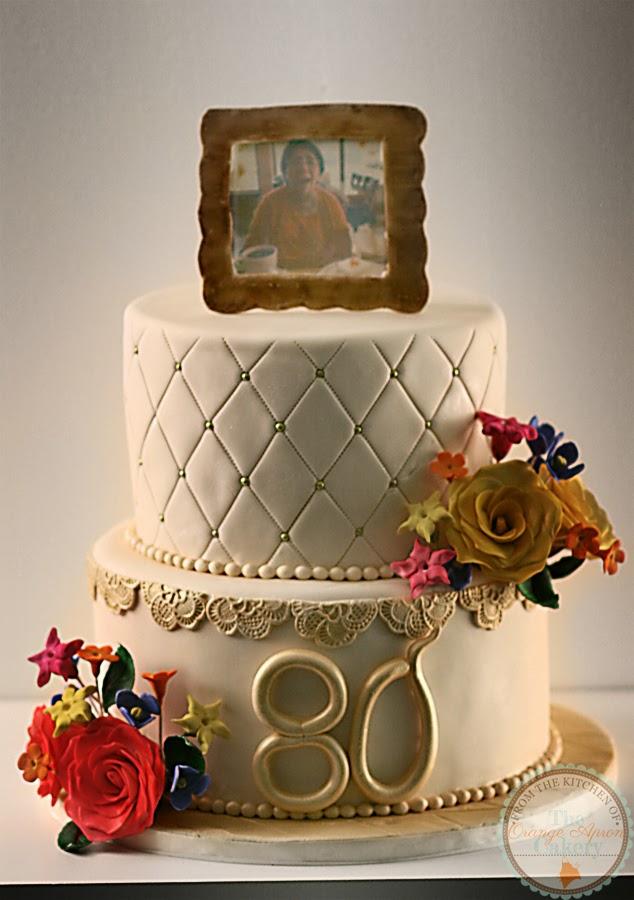 The Orange Apron Cakery 80th Birthday Cake