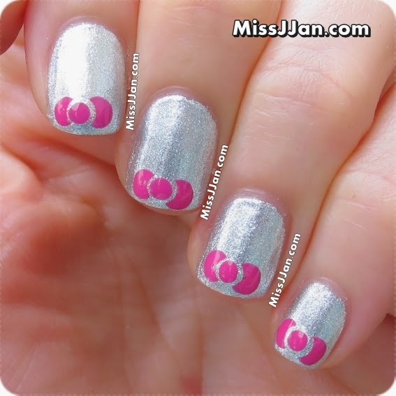 Missjjans beauty blog tutorial very easy bow nail art tutorial very easy bow nail art hello kitty inspired prinsesfo Image collections