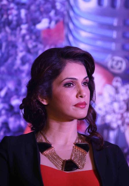 Isha Koppikar Sizzles In Red Dress At Film ' Assi Nabbe Poorey Sau' Poster Launch At JW Marriott