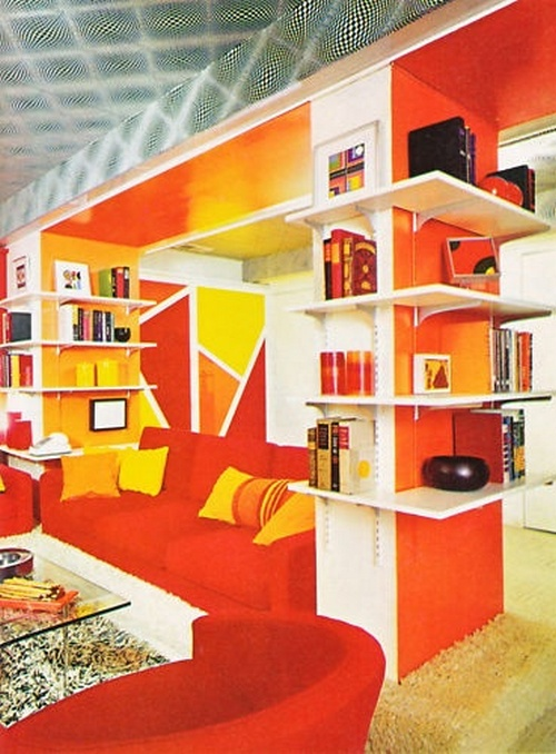 Life styles book a look at the 70s livingroom for 70 s room design