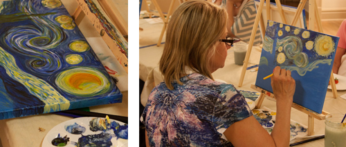 adult painting classes, atascadero, paint and wine, my masterpiece, studio 101 west art education