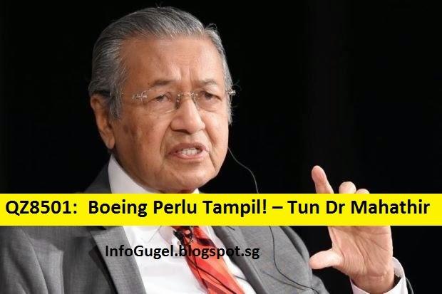 QZ8501 & MH370: Boeing Perlu Tampil! Tun M Persoal Keperluan Mencari Pesawat Di LAUTAN