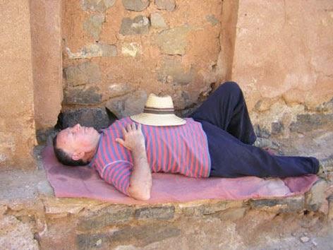 Reposando siesta