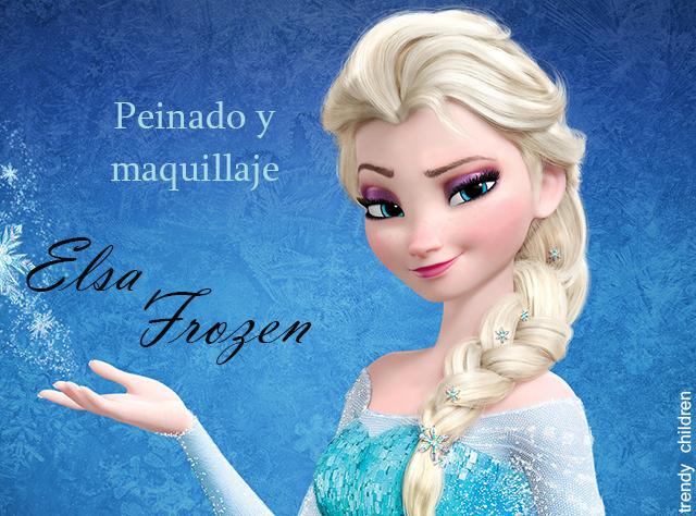 Disfraz Elsa Frozen Peinado Y Maquillaje Trendy Children Blog De