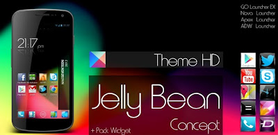 Jelly Bean HD Theme 5 in 1 v3 apk download