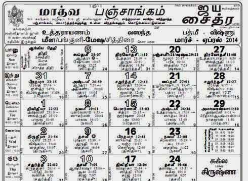 Know Your Hindu Religion Tamil Panchangam Almanac