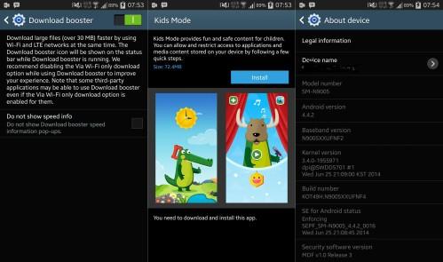 Nuovo firmware per il phablet Samsung Galaxy Note 3 con nuove funzioni