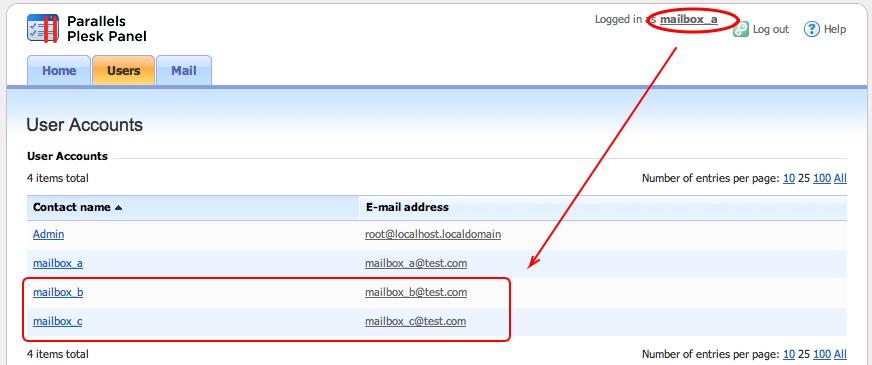Plesk 10: Mail hosting in Plesk 10  Hide