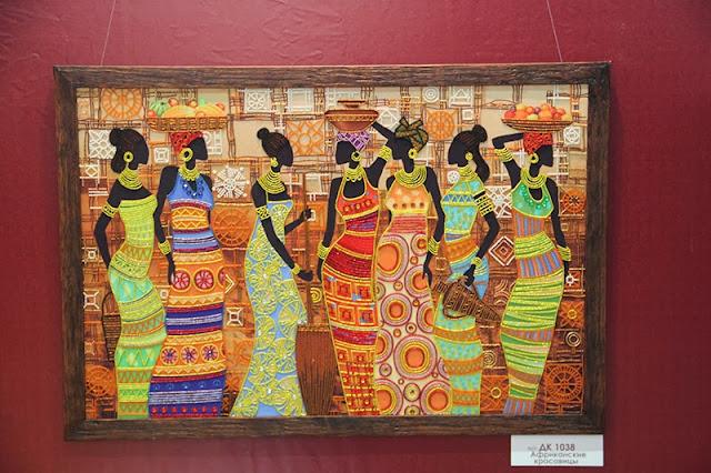 Африканская красавица вышивка бисером
