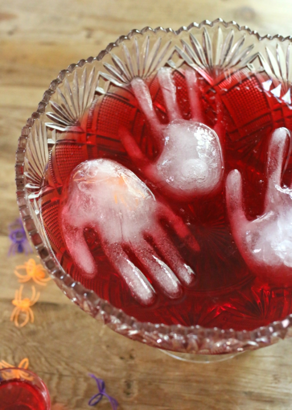 the trick to making these icy hands is using food safe vinyl gloves as molds to freeze overnight the recipe can also easily be kicked up a notch with your - Punch For Halloween