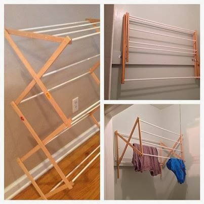 two it yourself diy laundry drying rack wall mount from floor standing. Black Bedroom Furniture Sets. Home Design Ideas
