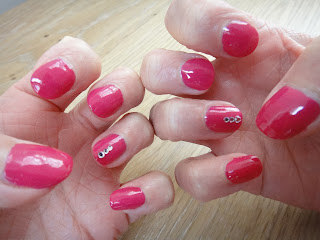 Barry M shocking Pink, Nail Gems