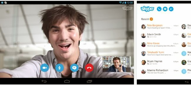 Skype (4.6) Last APK (Unlocked) tablet and Android phones free download