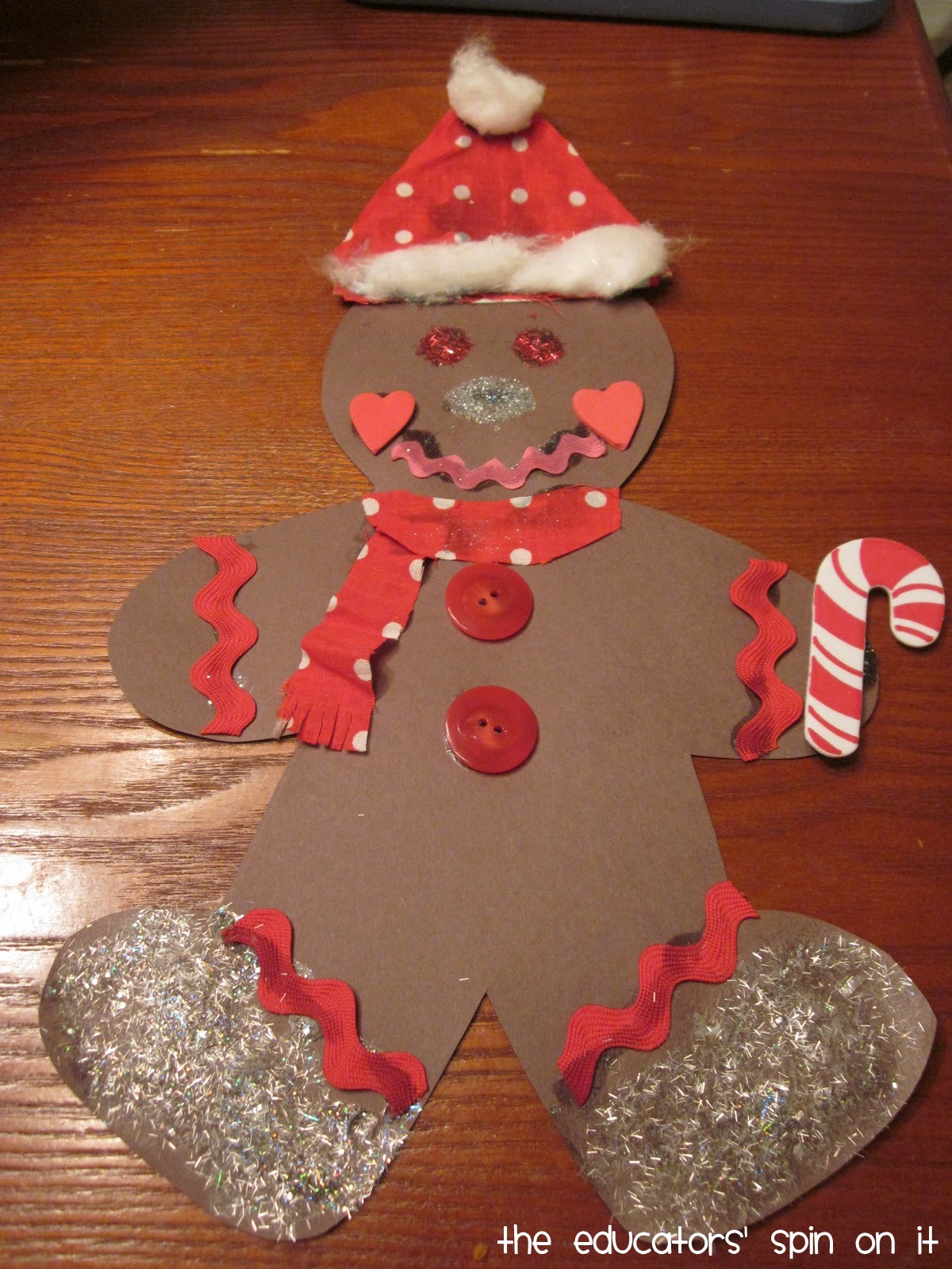 Paper gingerbread man decoration ideas