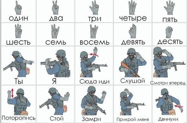 край имел жесты руками в армии без