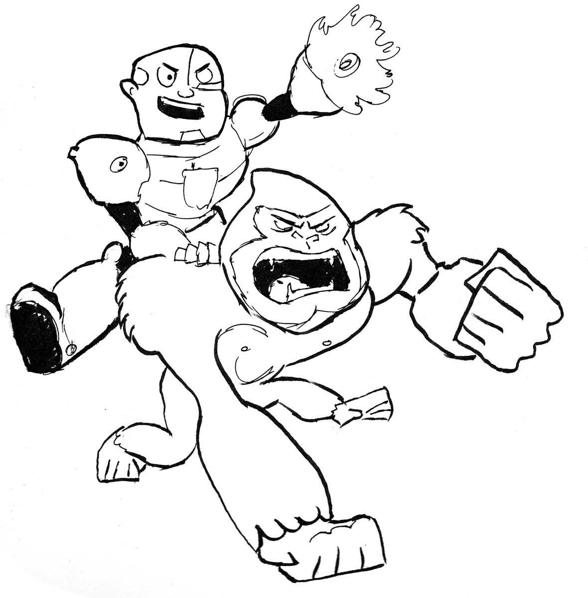 Teen titans go beast boy coloring for Teen titans coloring pages