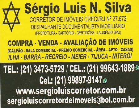 CARTÃO DE VISITA - CORRETOR SERGIO LUIS CRECI/RJ 27.672