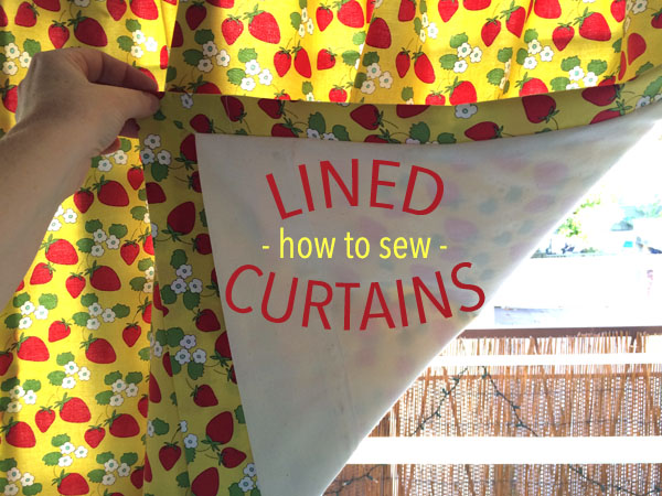 how to sew lined curtains on craftsy by christine haynes
