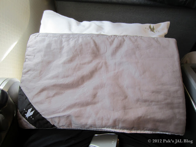 AA 767-200 business class duvet and pillow