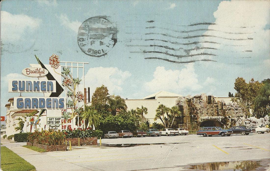 Postcard Messages From The Past St Petersburg Florida Sunken Gardens