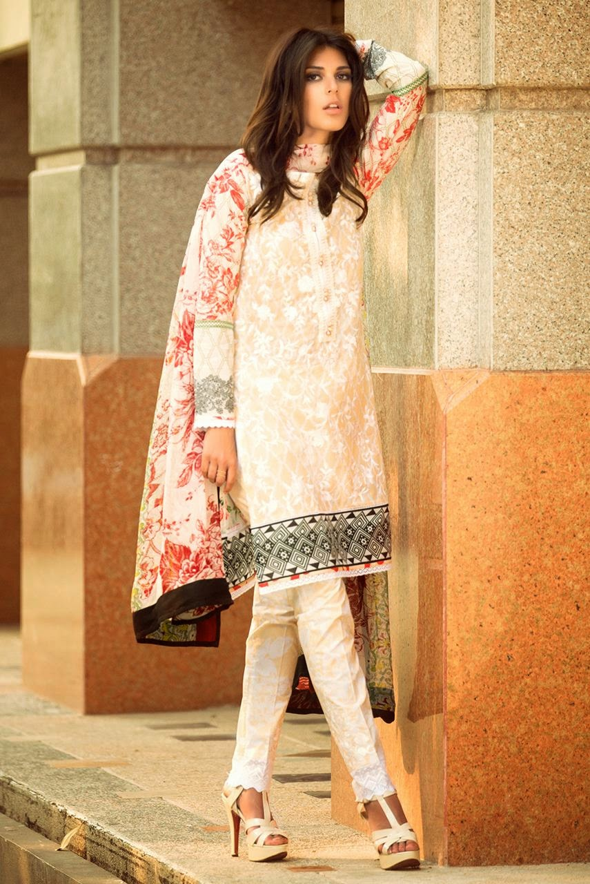 latest pakistani lawn collection 2015