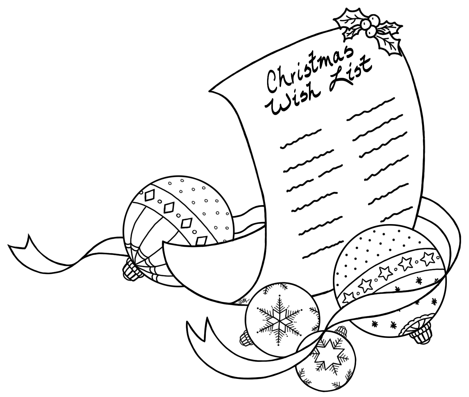 christmas wish list coloring page - christmas wish list freebie 16 bearywishes
